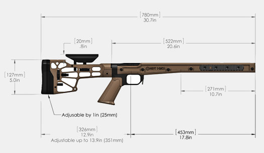 MDT HS3 Chassis System for Remington 700